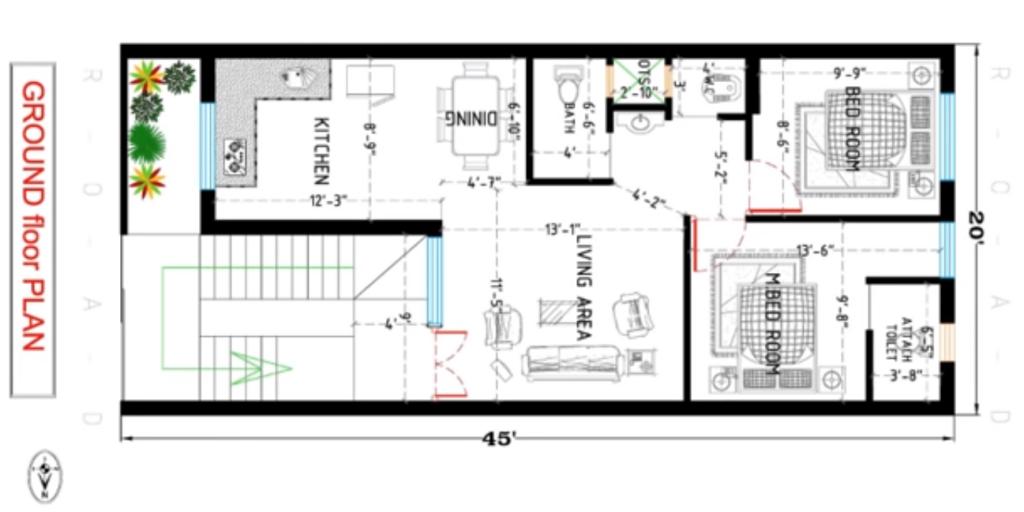 900 sq ft house plan
