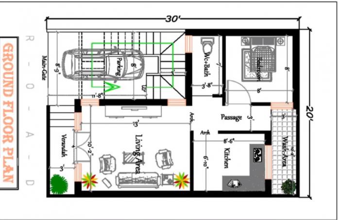 20x30 house plan