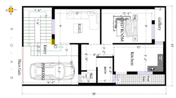 800 square feet house plan