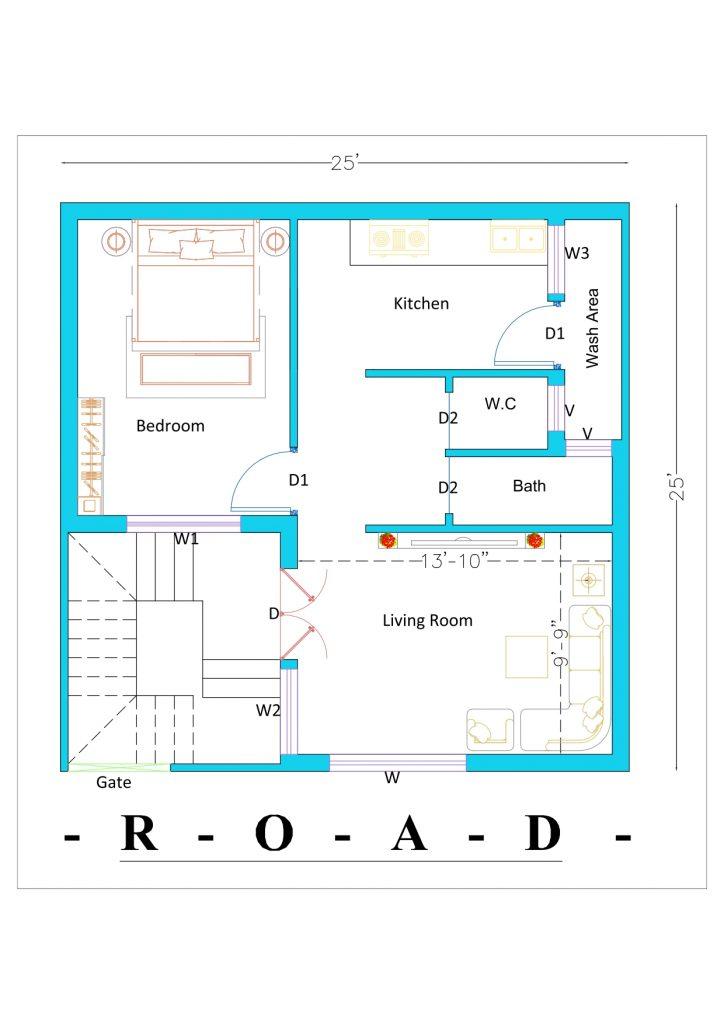 25x25 house plan