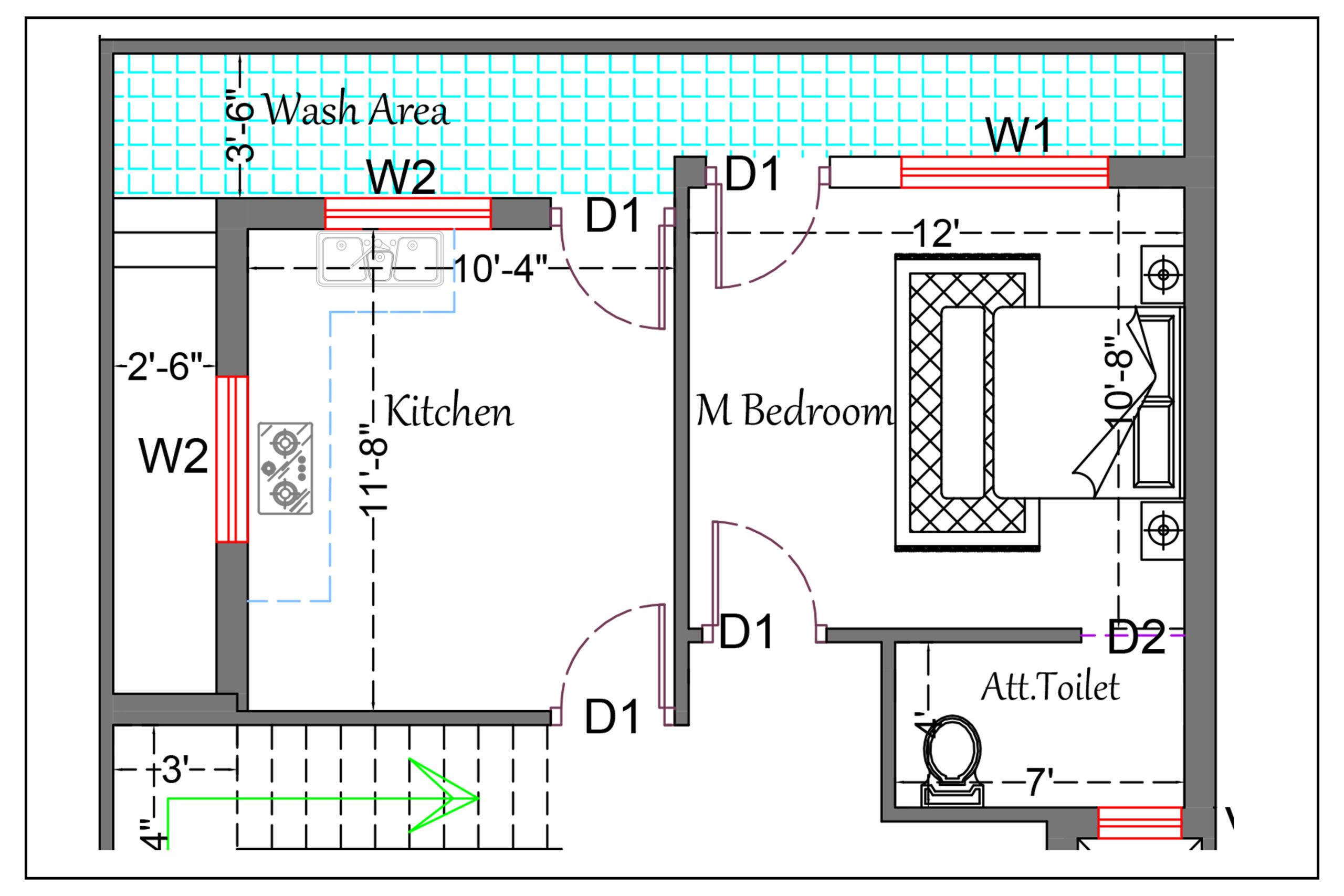 South Facing House Plan