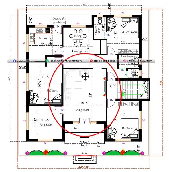 Standard sizes of living room