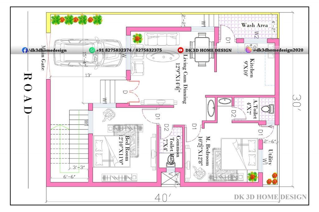 30x40 house plan