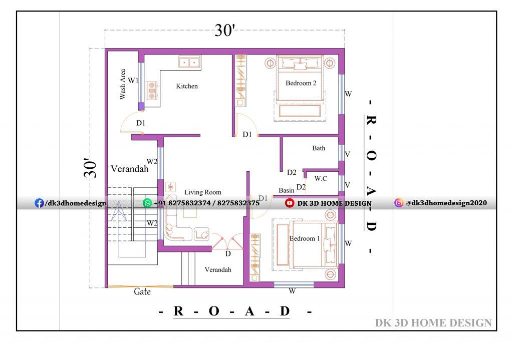 30x30 house plan