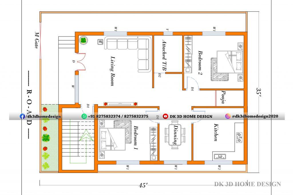 35x45 house plan