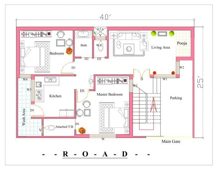 40x25 house plan