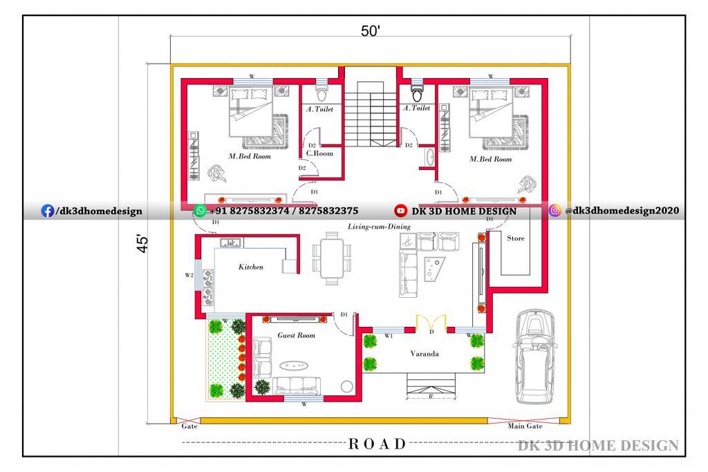 25x45 house plan