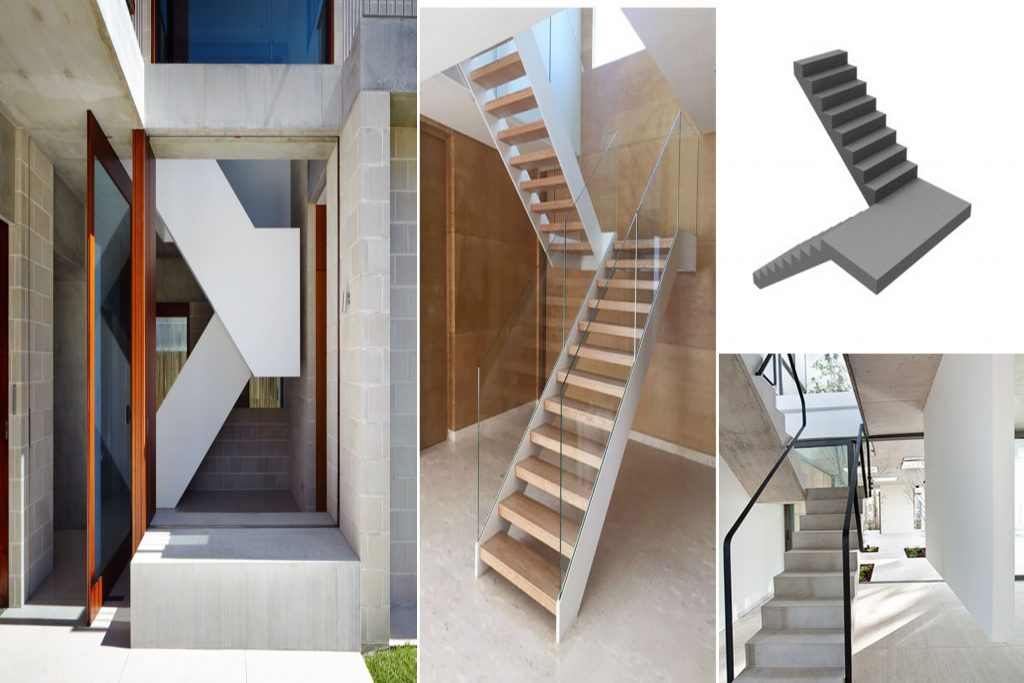 different type of stair