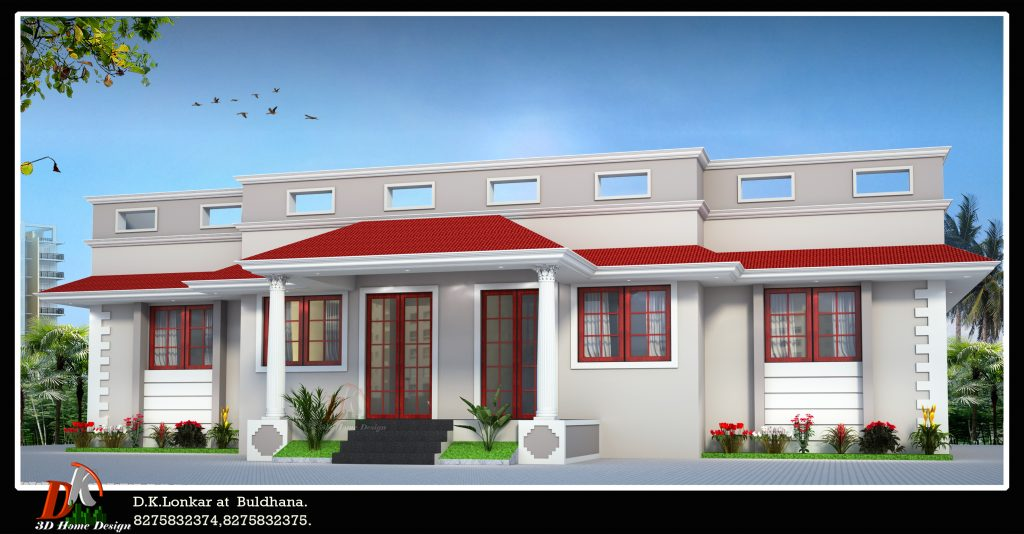 House Front elevation color combination