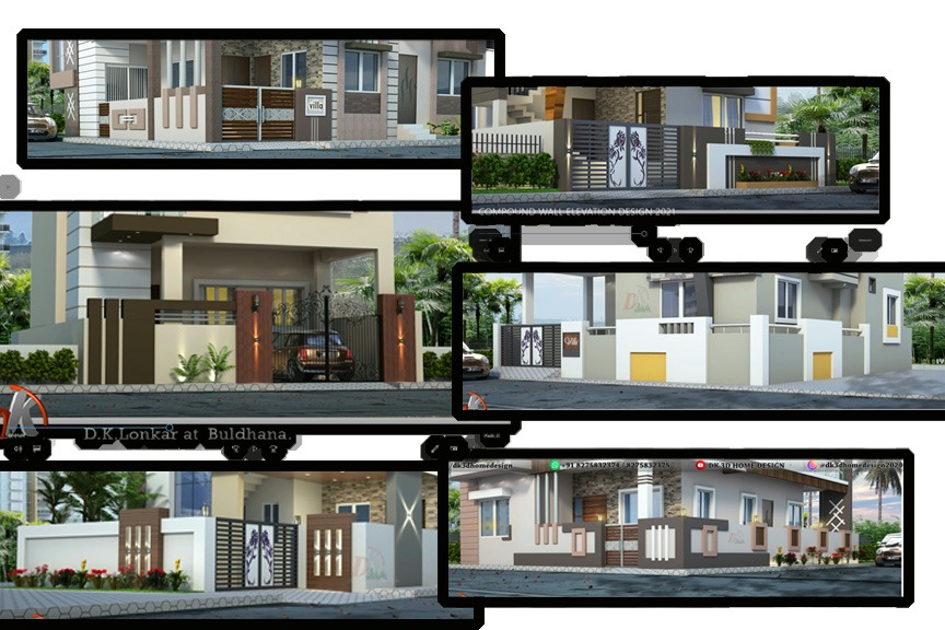 Compound wall designs by dk 3D home design