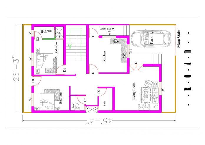 25*46 house plan
