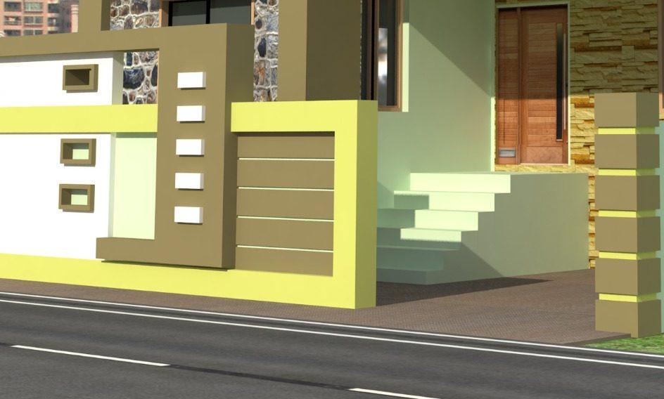simple boundary wall design
