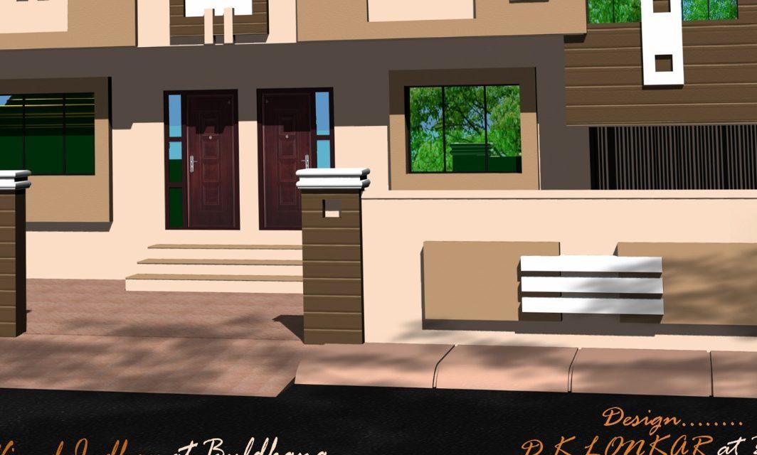 home boundary wall design