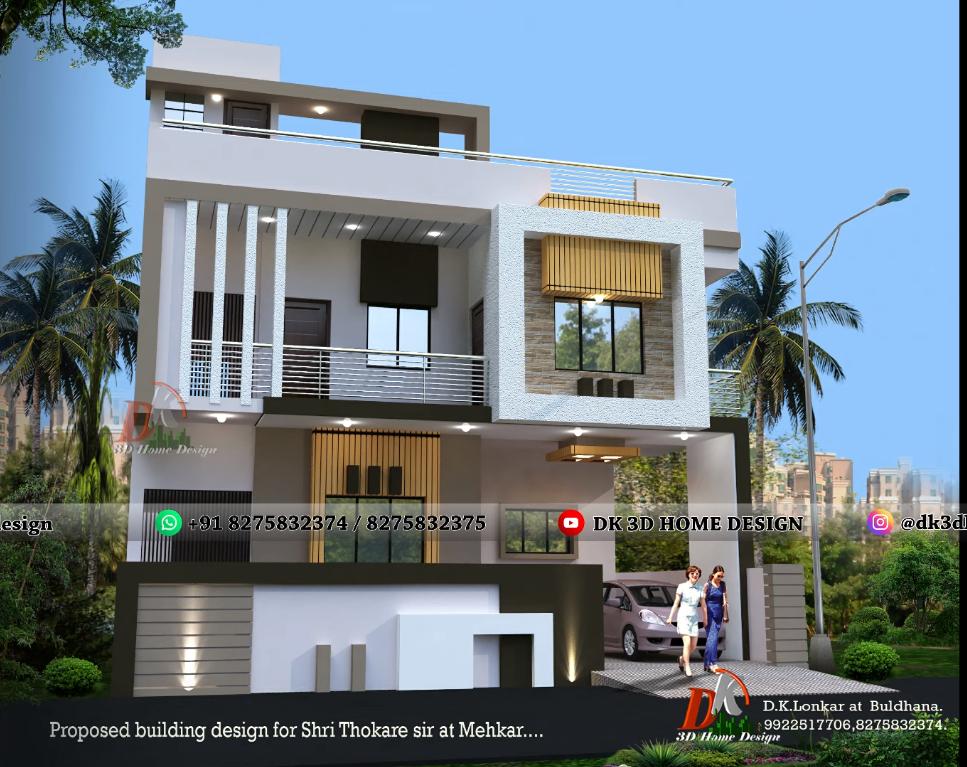Double floor indian home design