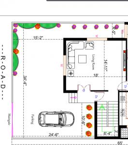 35X65 house plan