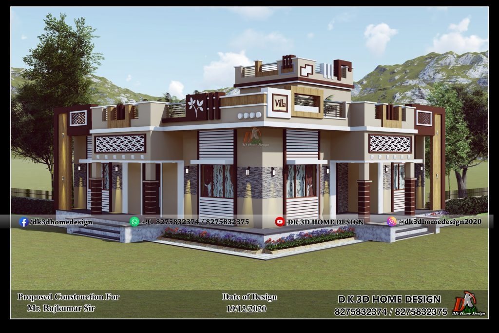 Indian style home front design
