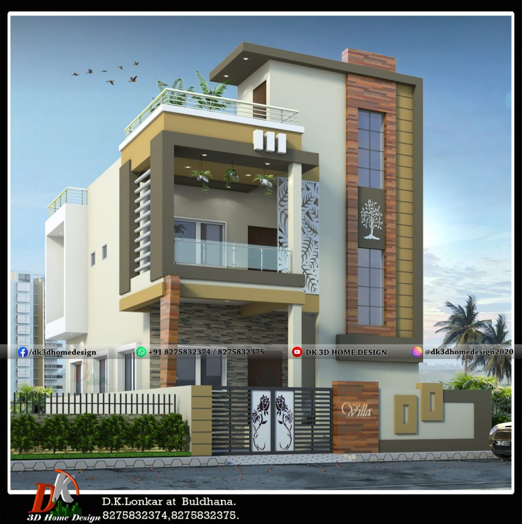 simple front balcony design house