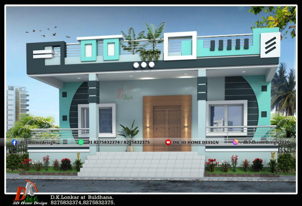 simple home design in village