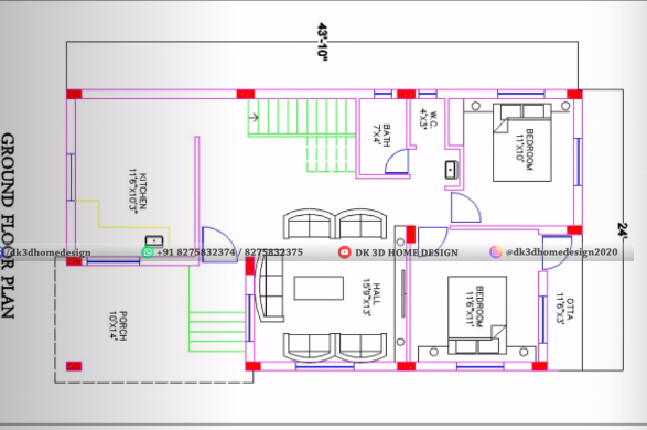 1000 sq ft house plan