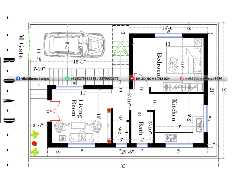 2 story small house plan