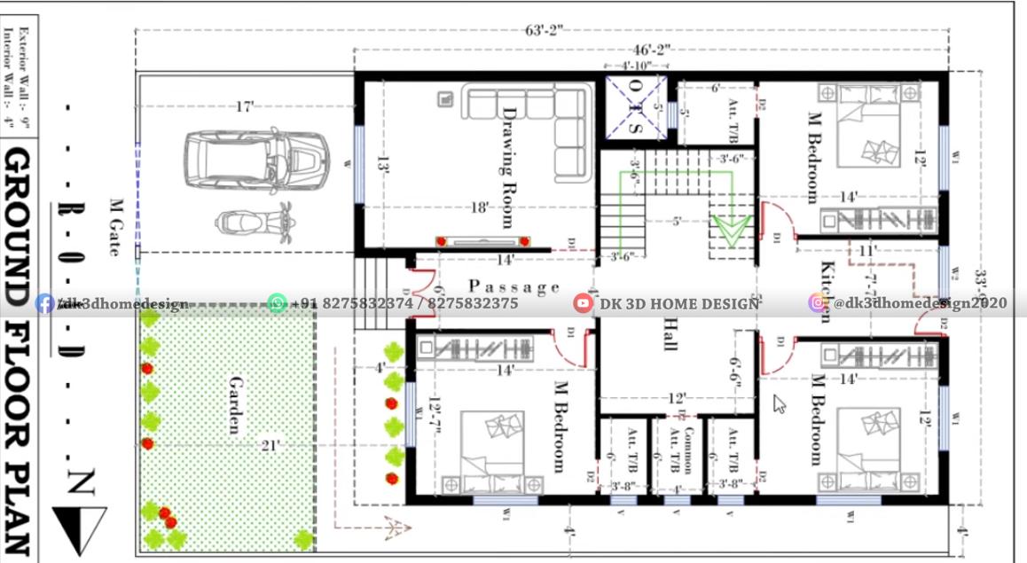 2000 sq ft house plan