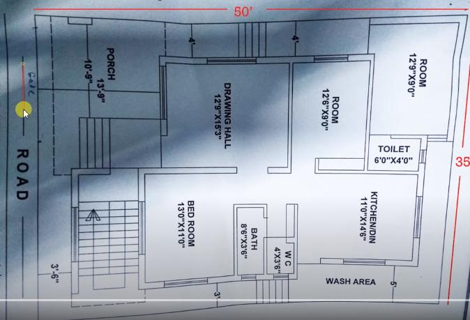 35x50 3bhk house plan