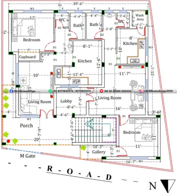 2 floor house plan