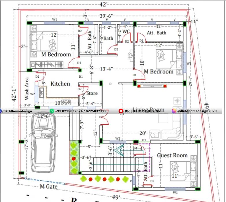2 story house plan