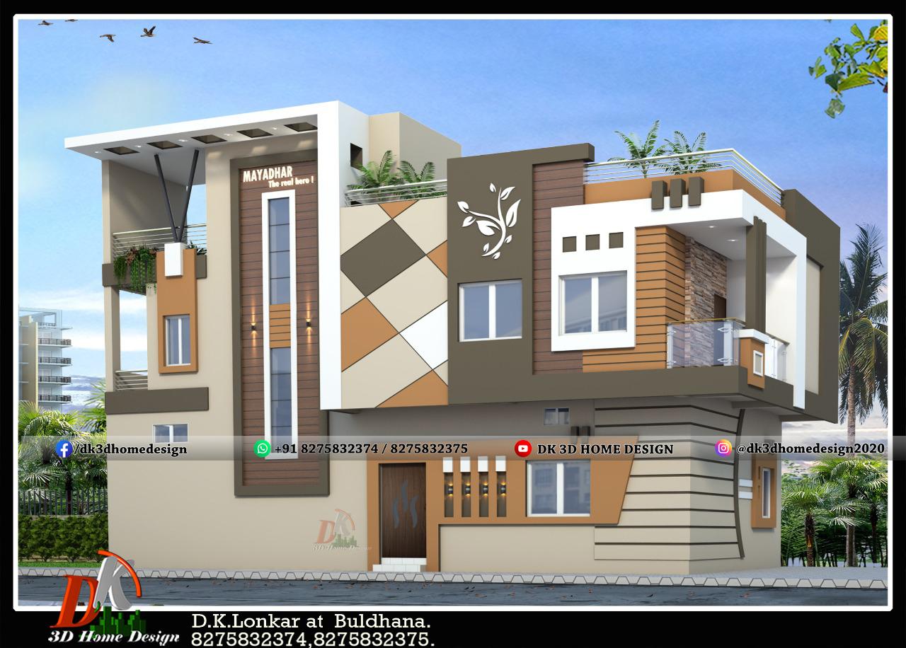 double floor floor low budget normal house front elevation designs