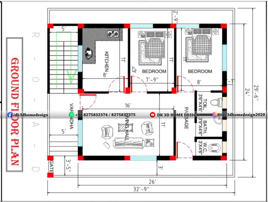 30x33 house plan