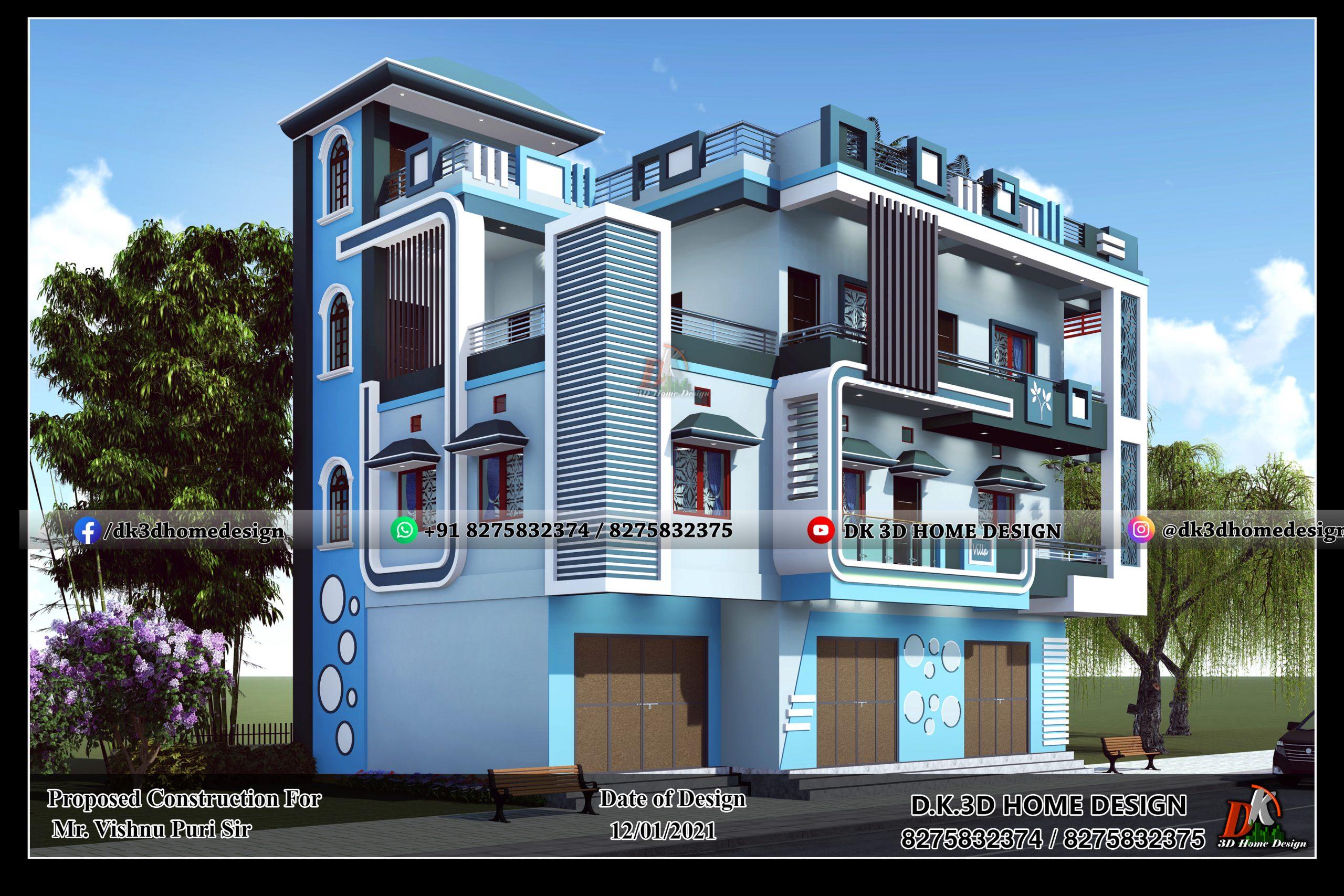 G+2 house design