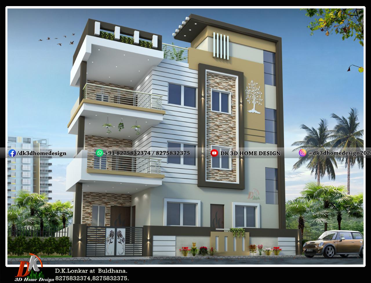 Modern 3 floor house design