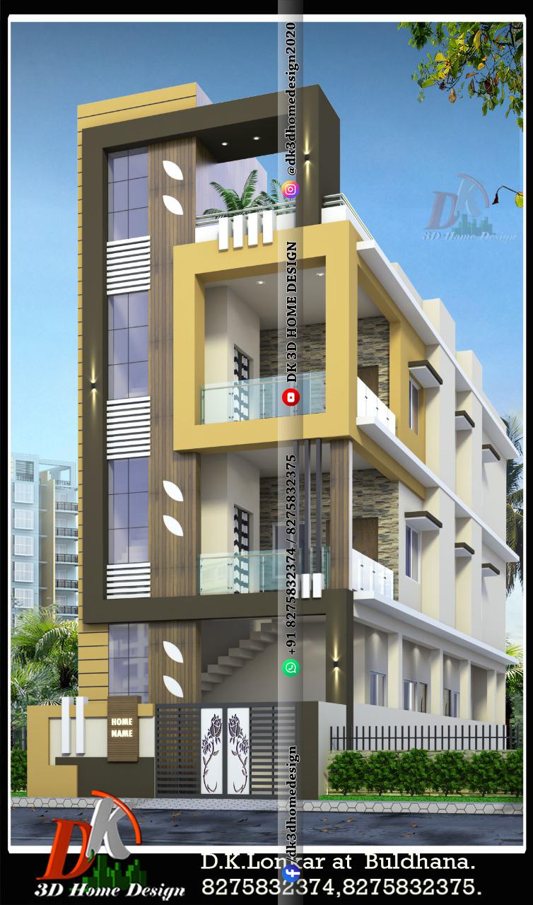 3 floor house design