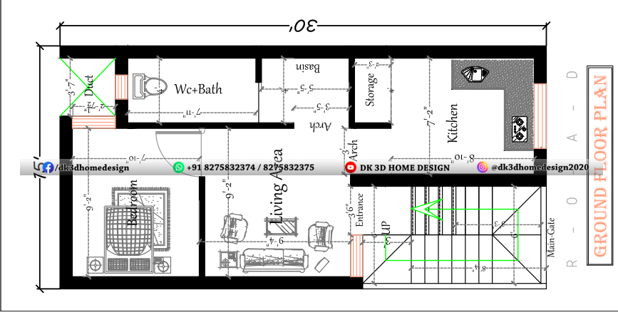 15x30 house plan